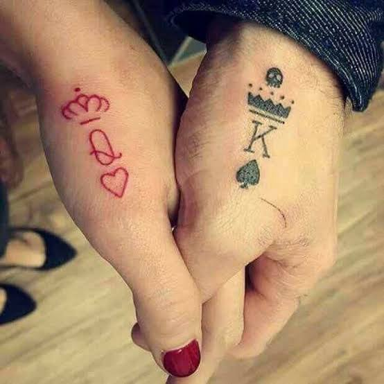 King and Queen of Hearts tattoo. Image source: Styles at life