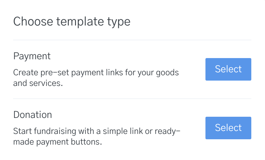 image of setting up payment templates on OpenNode dashboard