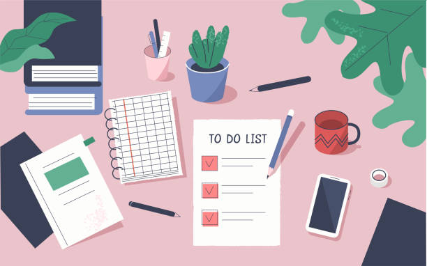 being organized with a to-do checklist