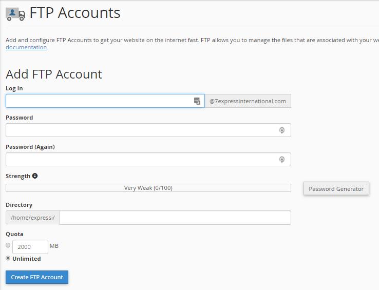 Membuat Subdomain FTP Account di cPanel : Exabytes.co.id