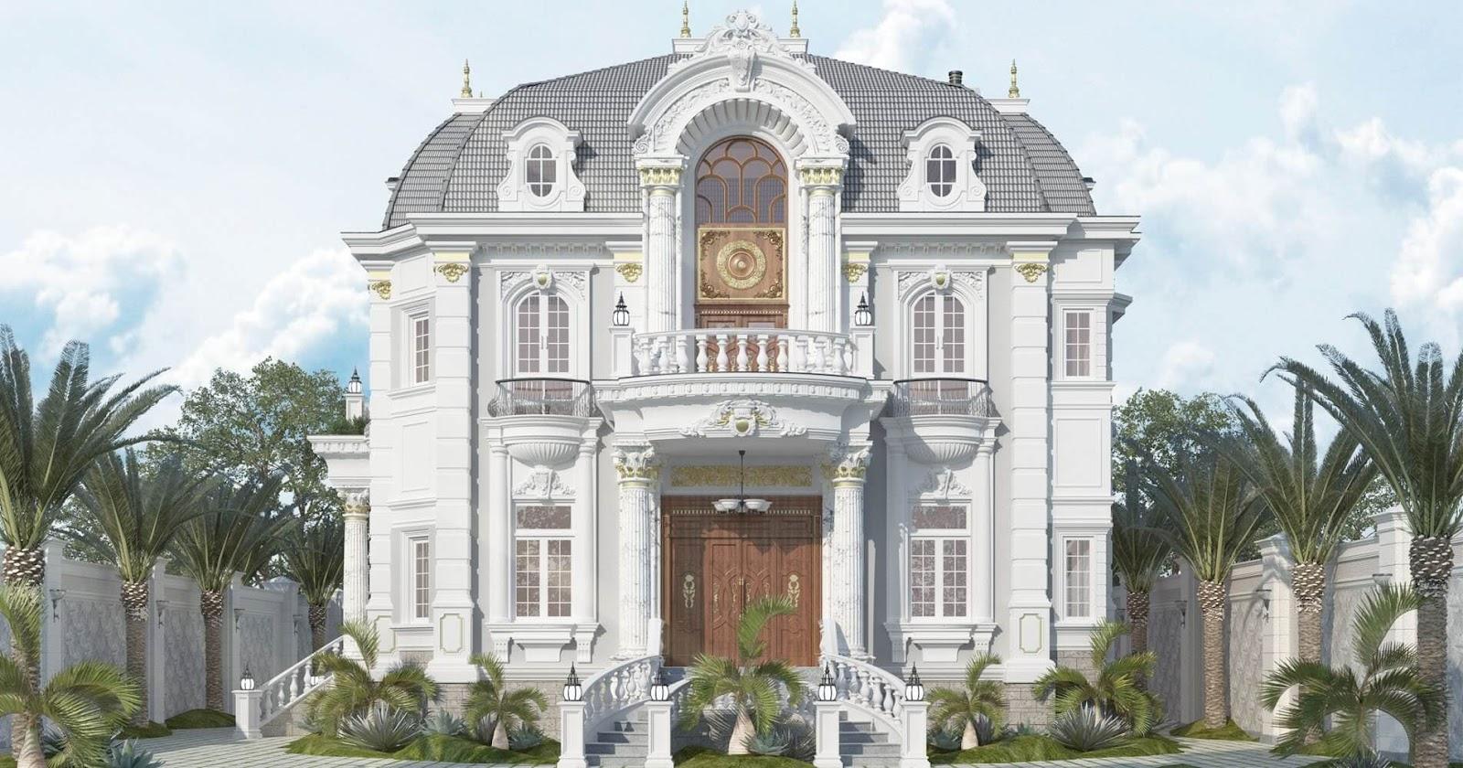 mẫu thiết kế biệt thự dạng lâu đài