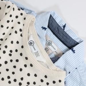 Strykfria namnlappar for märkning av kläder