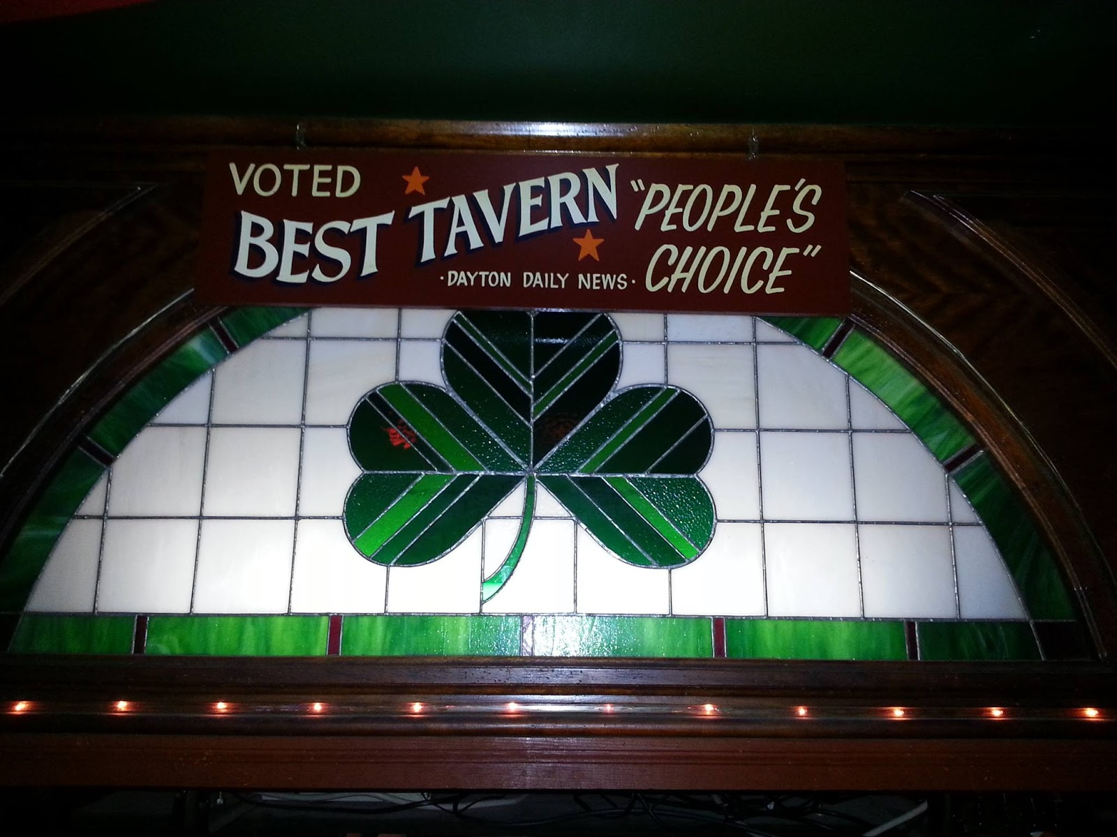 four leaf clover stained glass