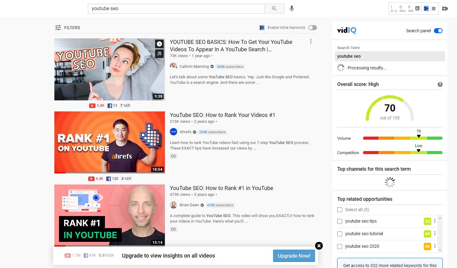 youtube SEO secrets