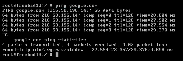 FreeBSD Cannot Connect To The Internet: ping google.com [fixed]. Source: nudesystems.com