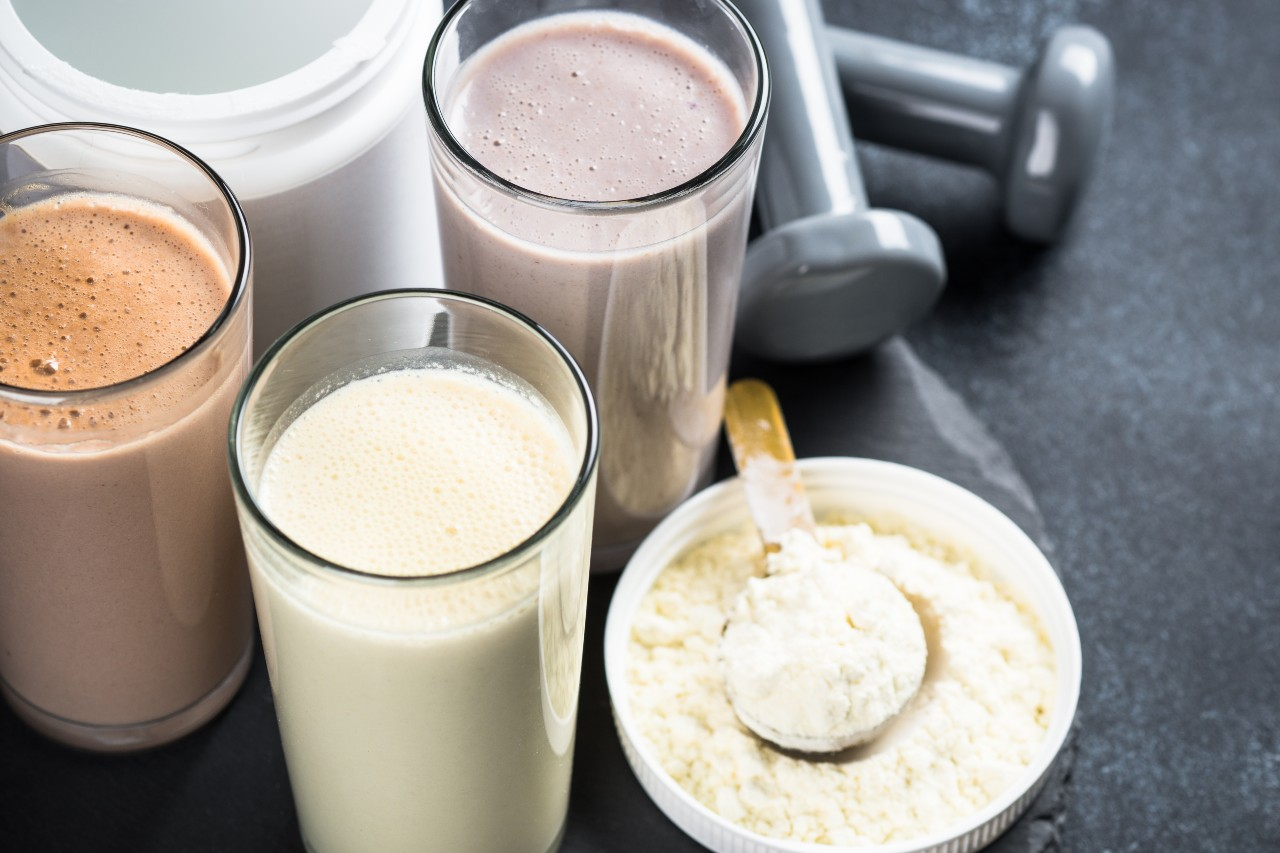 Pea Protein vs. Whey Protein: Variety of flavored protein smoothies