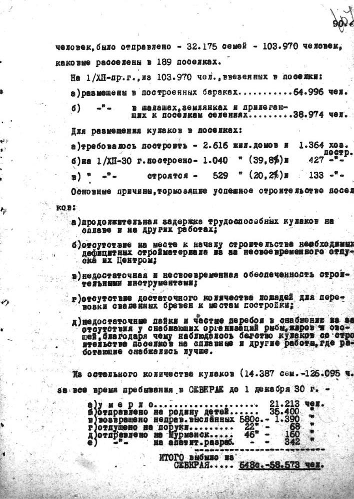 Лист 3. Источник: ГА РФ.Ф.Р-9414.Оп.1.Д.1943.Л.108 Докладная записка ОГПУ о высланных кулаках 2-й категории от 9 февраля 1931 года