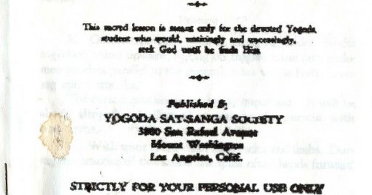 Kriya Yoga By Swami Yogananda Pdf Google Drive