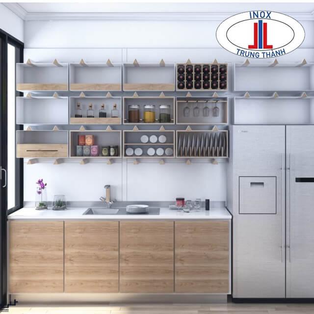 Tủ bếp inox/nhựa/gỗ tự nhiên, công nghiệp
