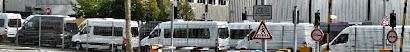 Kleintransporter ›Sprinter‹ verlassen das Daimler-Werk Düsseldorf.
