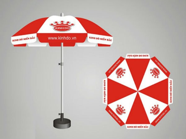 Vải bạt dùng làm ô dù quảng cáo