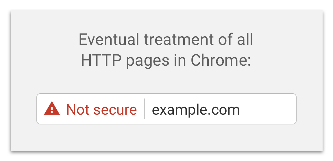 non-secure page chrome