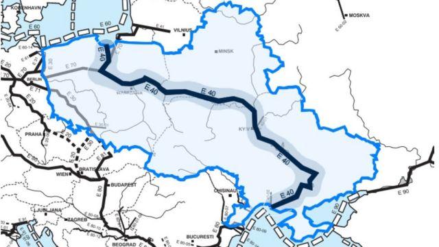 Мапа E40