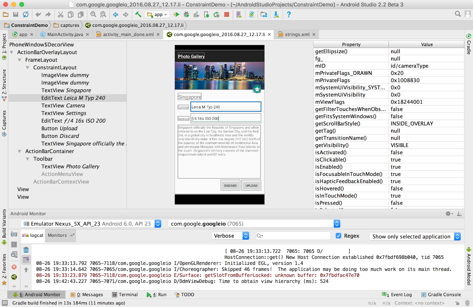 Layout inspector android studio project site for Google docs android studio