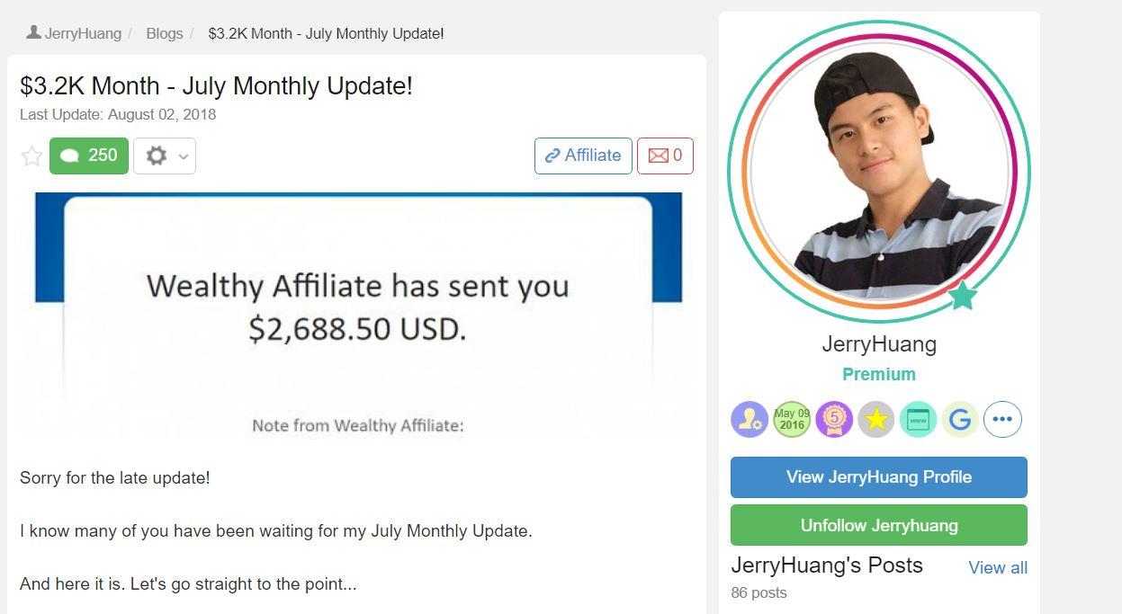 Jerry Huang, 聯盟行銷