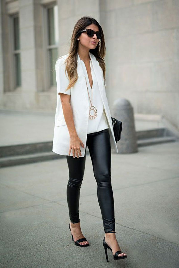 How to style leggings for the office
