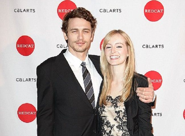 James Franco with Ahna O'Reilly