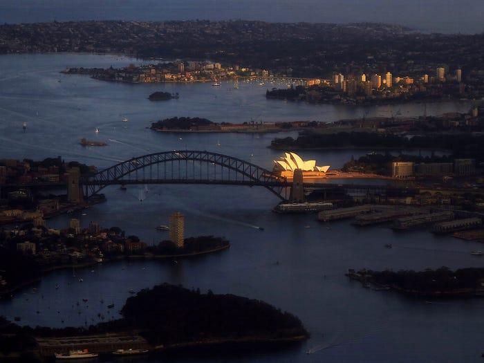 Sydney Harbour opera house australia