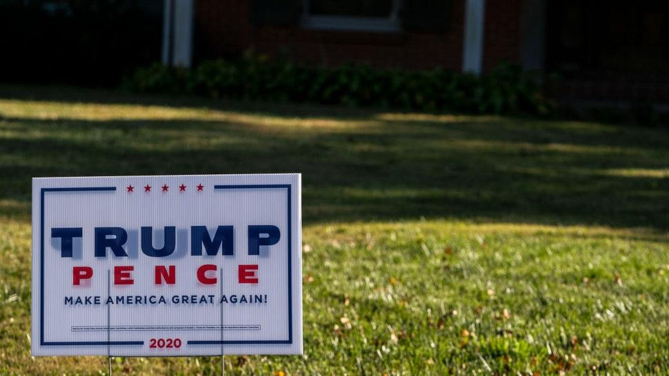 A Trump/Pence yard sign is seen on October 13, 2020 in Louisville, Kentucky.