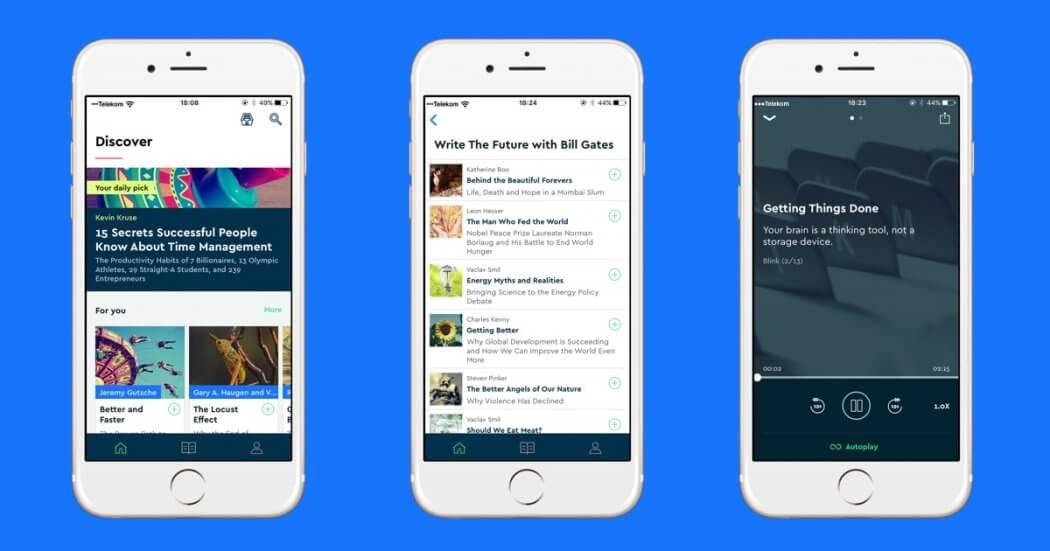 blinkist app screenshots