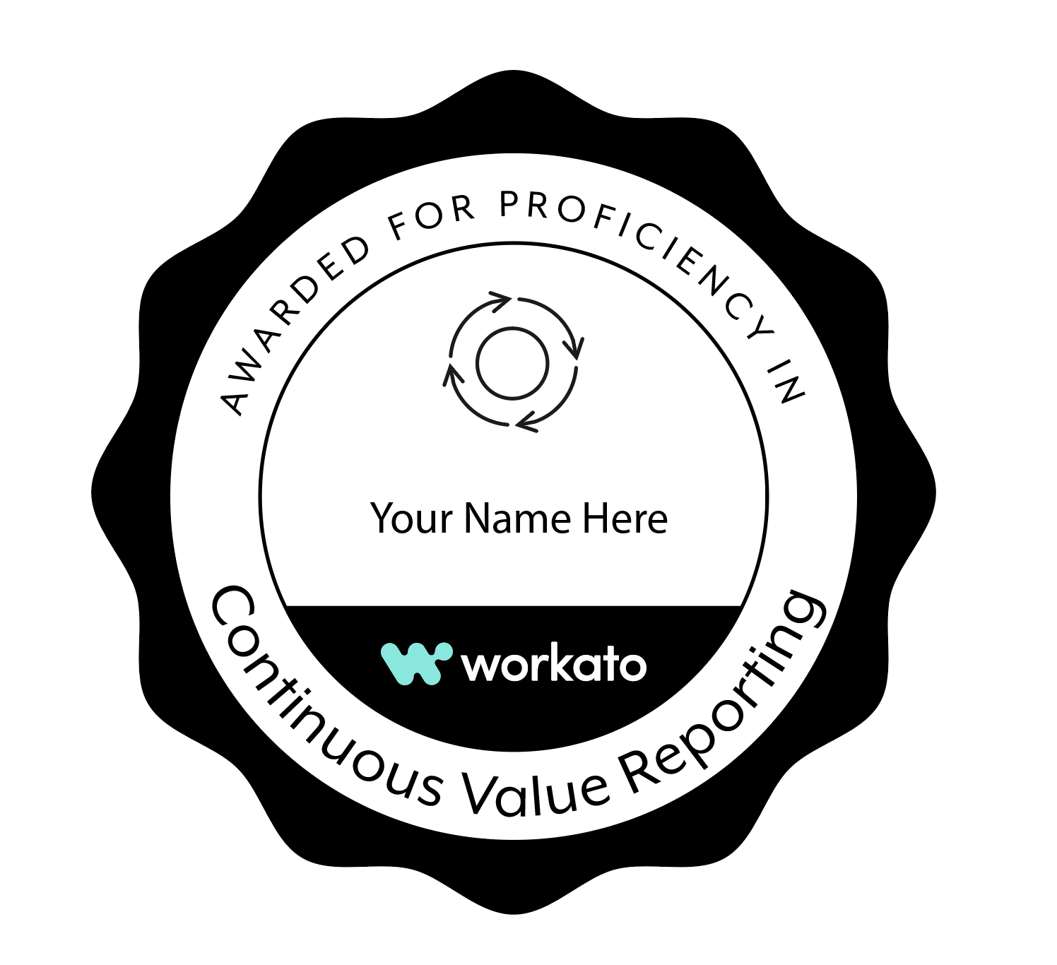 A badge you can earn from Workato's Automation Institute