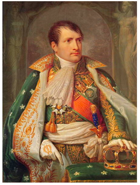 Image of Napoleon I (1769 - 1821) King of Italy, c.1805 - 10 (oil on canvas), Appiani Andrea the Elder (1754 - 1817) / Private Collection © Bridgeman Images