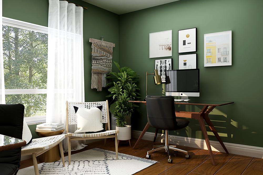 Custom home design idea for home office