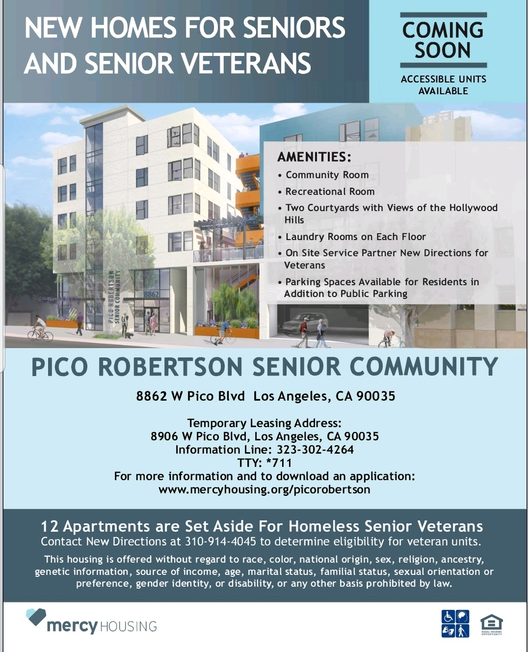 Mercy Housing Pico-Robertson News Homes for Seniors and Senior Veterans Flyer