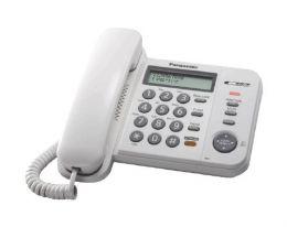 Panasonic - jednolinkový tel., displej, hlasitý tel., CLIP, barva bílá