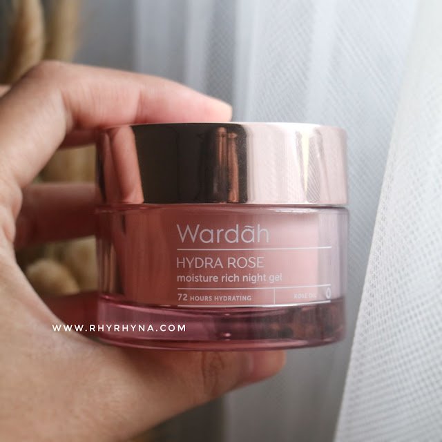 Wardah Hydra Rose moisture rich night gel