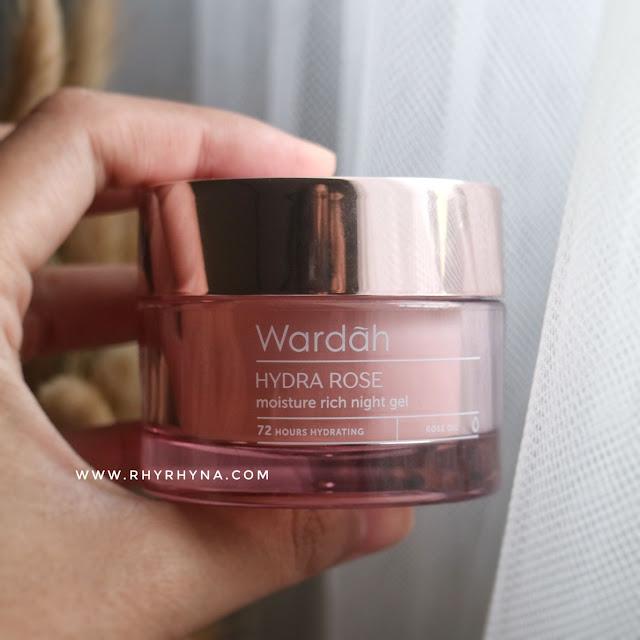 Wardah Hydra Rose moisture rich night gel