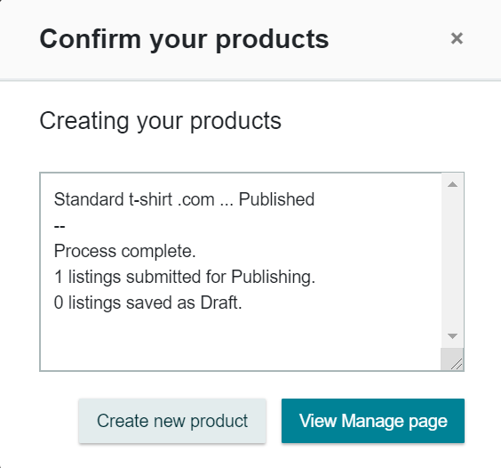 confirm your products