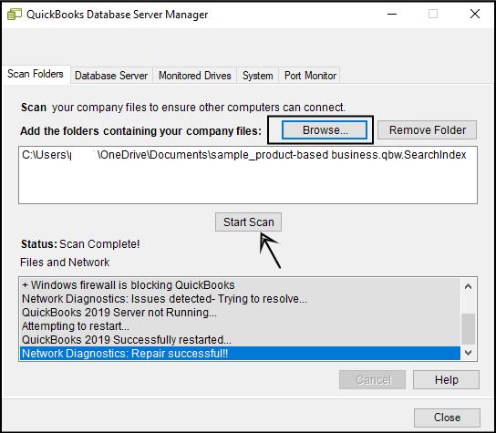 Quickbooks Error 6000 308 scann manager