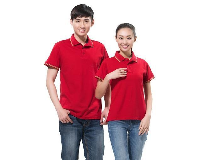 mẫu áo thun đồng phục giá rẻ màu xanh đỏ