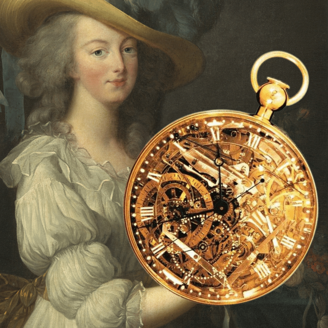 Photo of Marie Antoinette and the Marie Antoinette pocket watch from Breguet