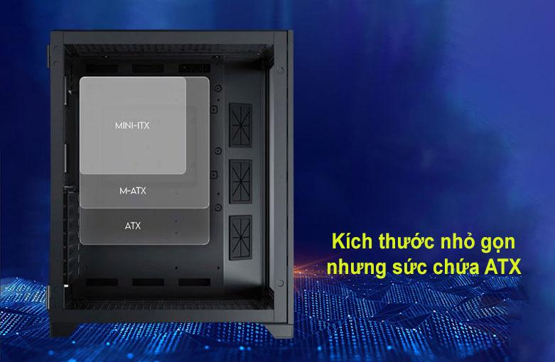Case Xigmatek AQUARIUS S BLACK (No Fan) Đen (EN46508) | Kích thước nhỏ gọn