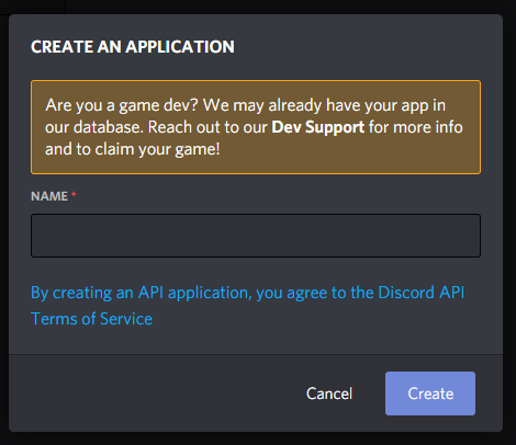 Register App and Bot on Discord