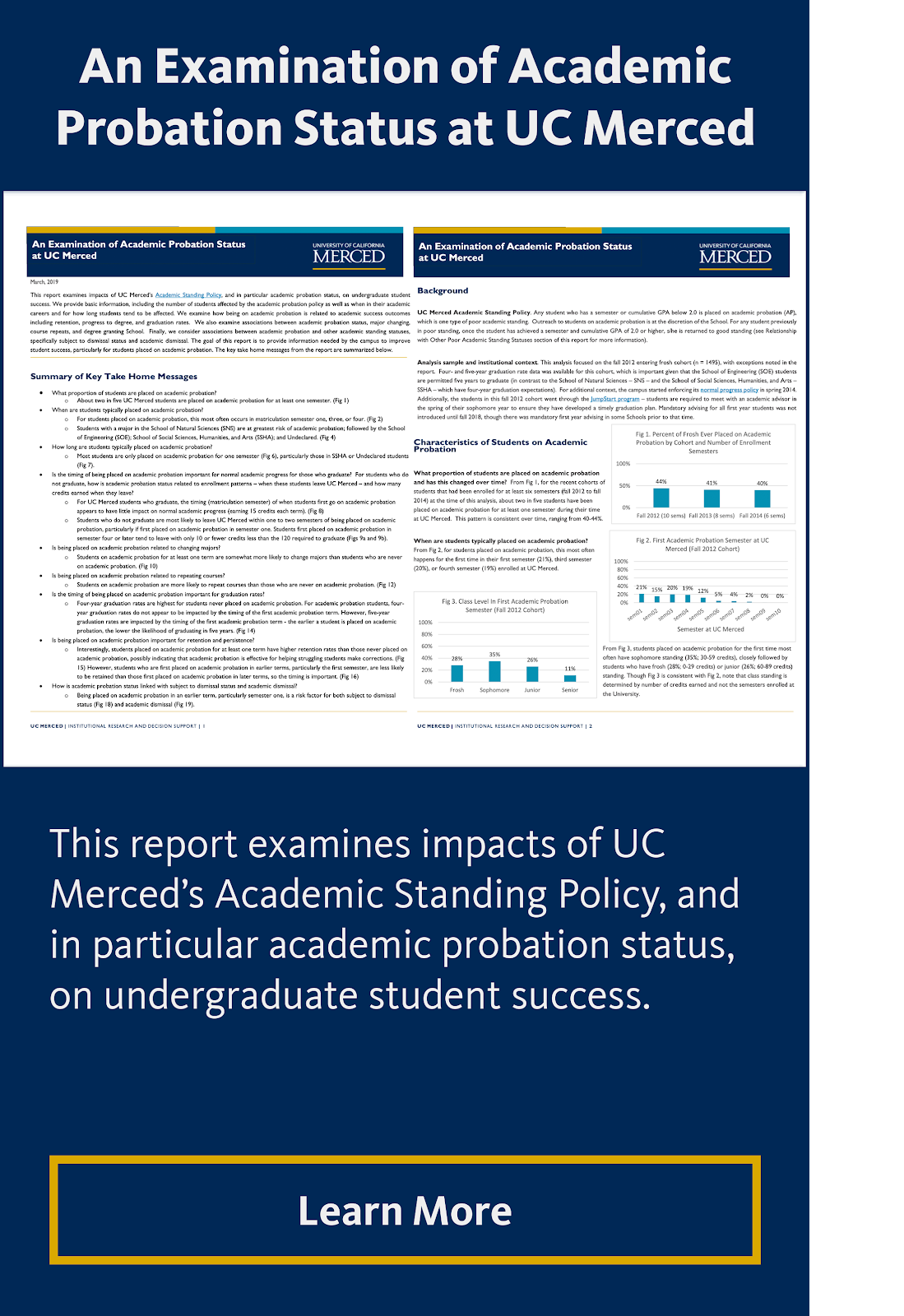 An Examination of Academic Probation Status at UC Merced