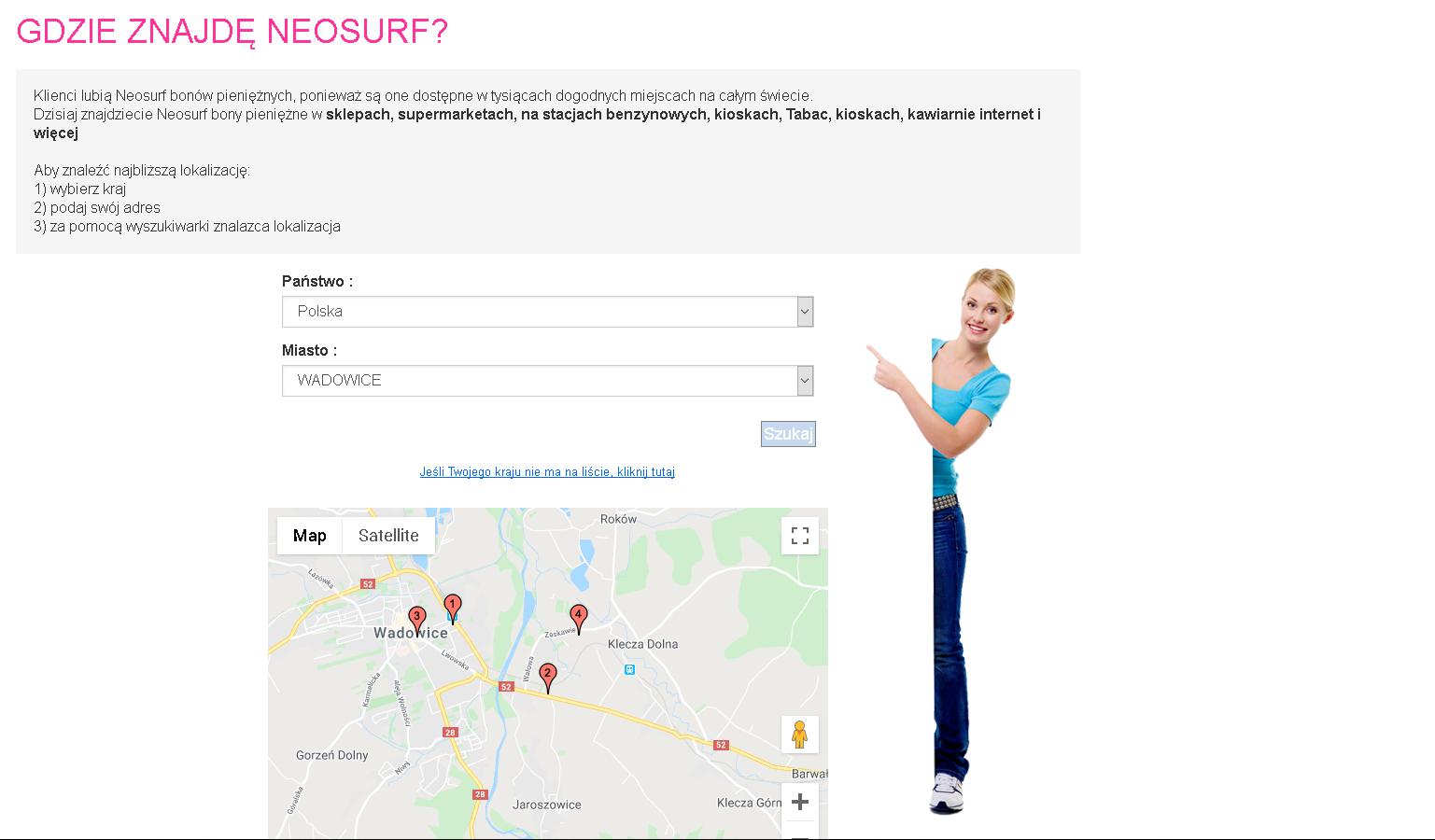 Idziemy do wybranego przez nas sklepu i prosimy o kod Neosurf