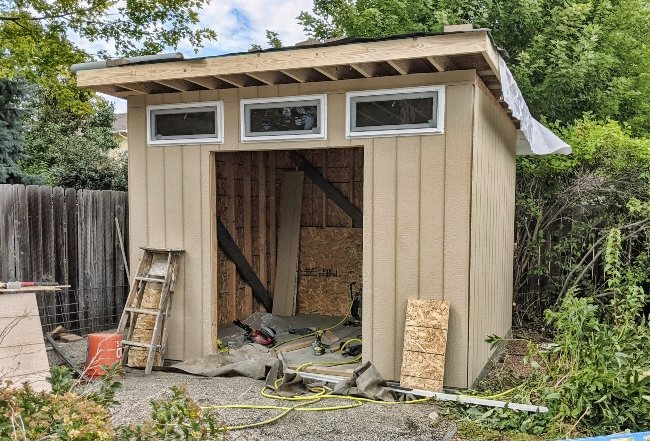 shed outdoor build
