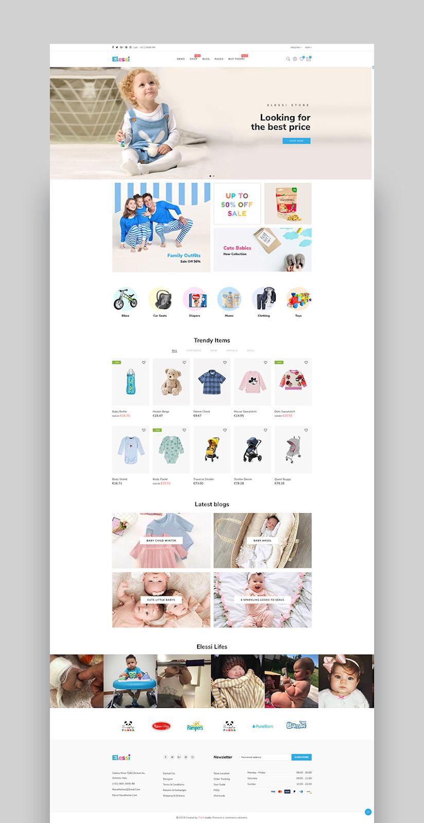Shopify responsive themes Elessi