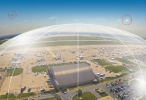drone shield over an airport