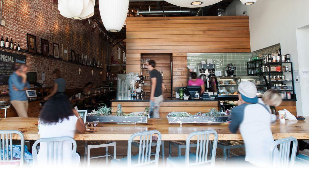 Interior of Berlin coffee shop
