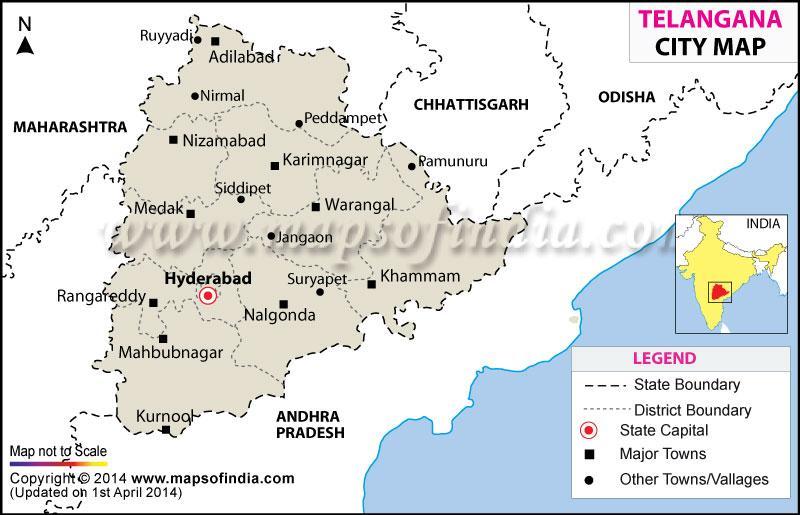 Image result for telangana map
