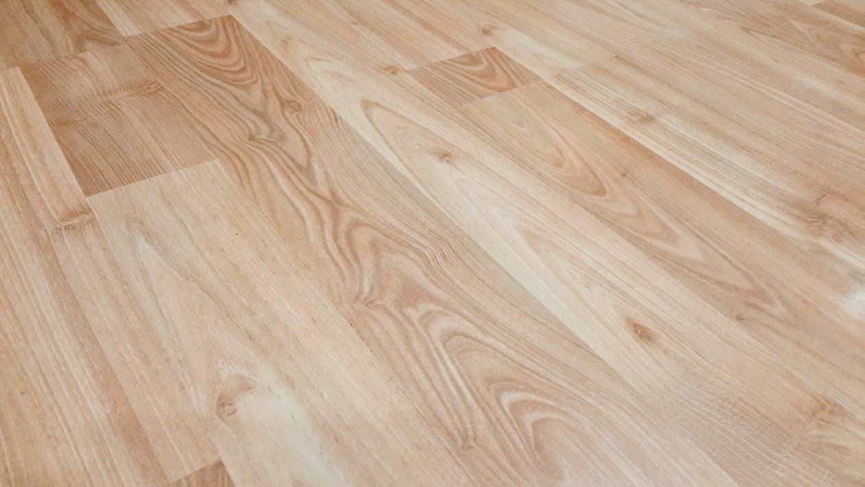 Natural stained hardwood flooring in a rental in North Dakota