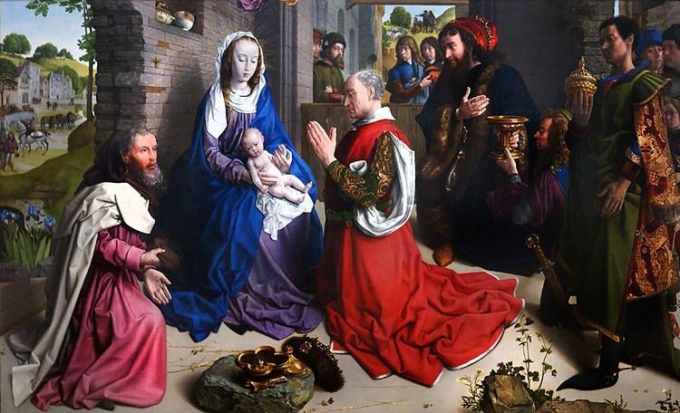 Adoration-of-the-Kings, Monforte Altarpiece, ca. 1470, oil on oak panel, Hugo-van-der-Goes.jpg