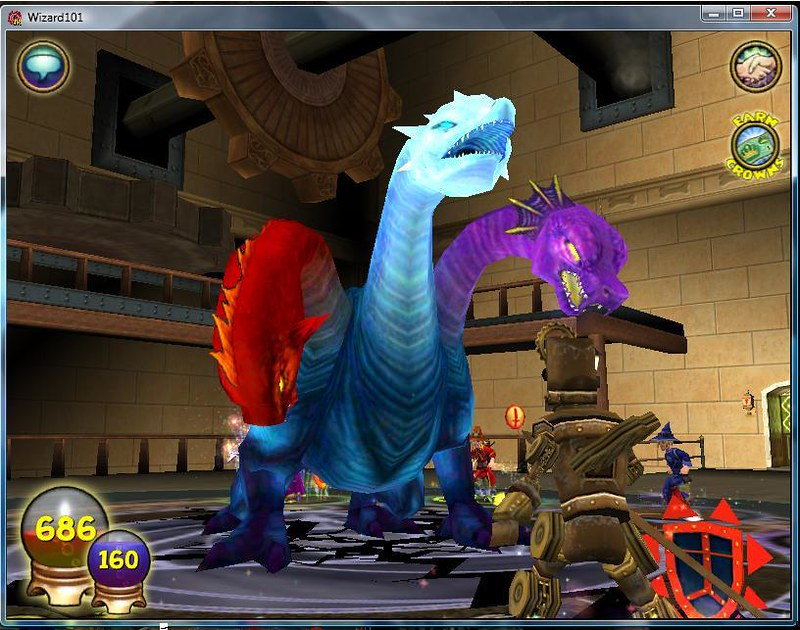 A screenshot from the game of a player casting the hydra spell. Photo by  Carla Pattillo (under CC  BY-NC-SA 2.0, no changes have been made.)
