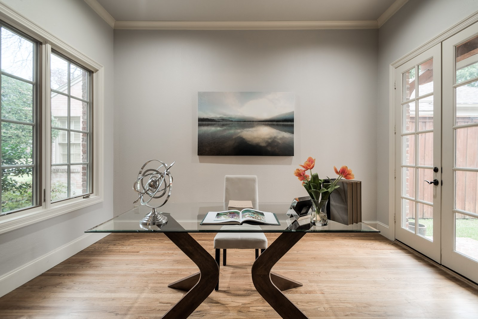 home office staging desk chair art natural lighting design by keti dallas home staging