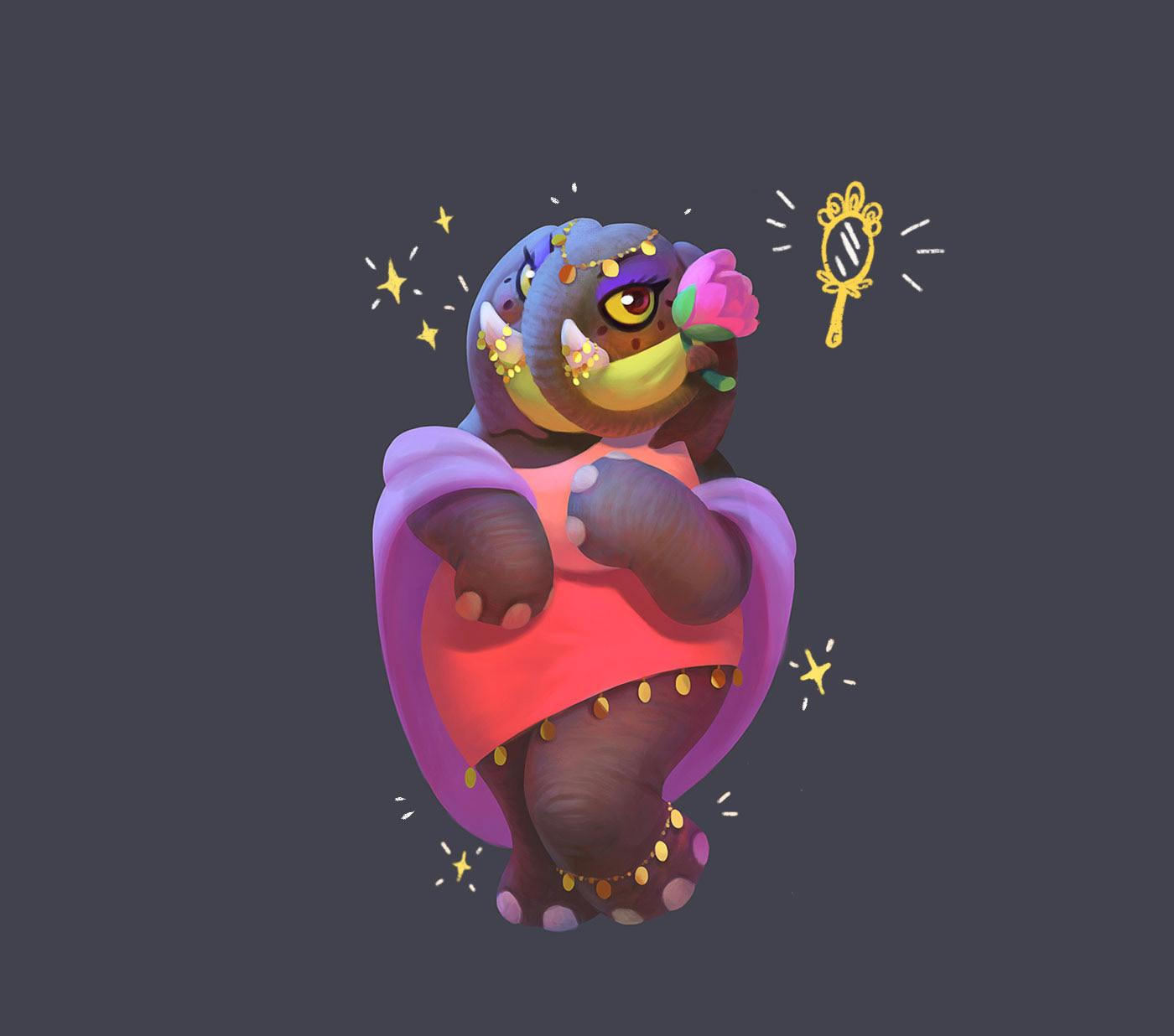 animals cartoon characters cute Mascot