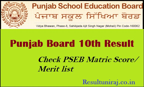 Punjab Board 10th Result 2019